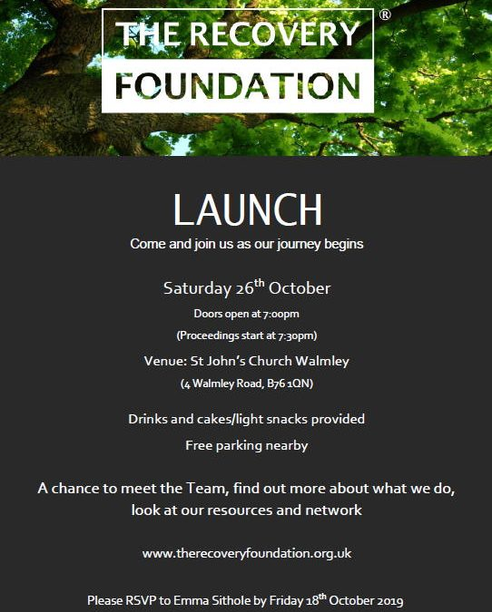 The Recovery Foundation® Launch Event